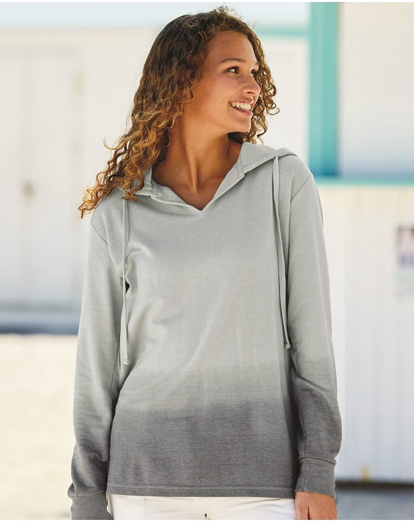 Women's French Terry Ombr_ Hooded SweatShirt-MV Sport-Pacific Brandwear