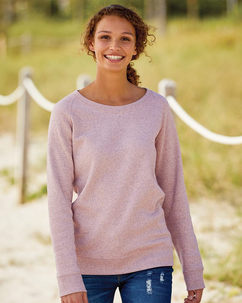 Women's Space-Dyed Sweatshirt-MV Sport-Pacific Brandwear