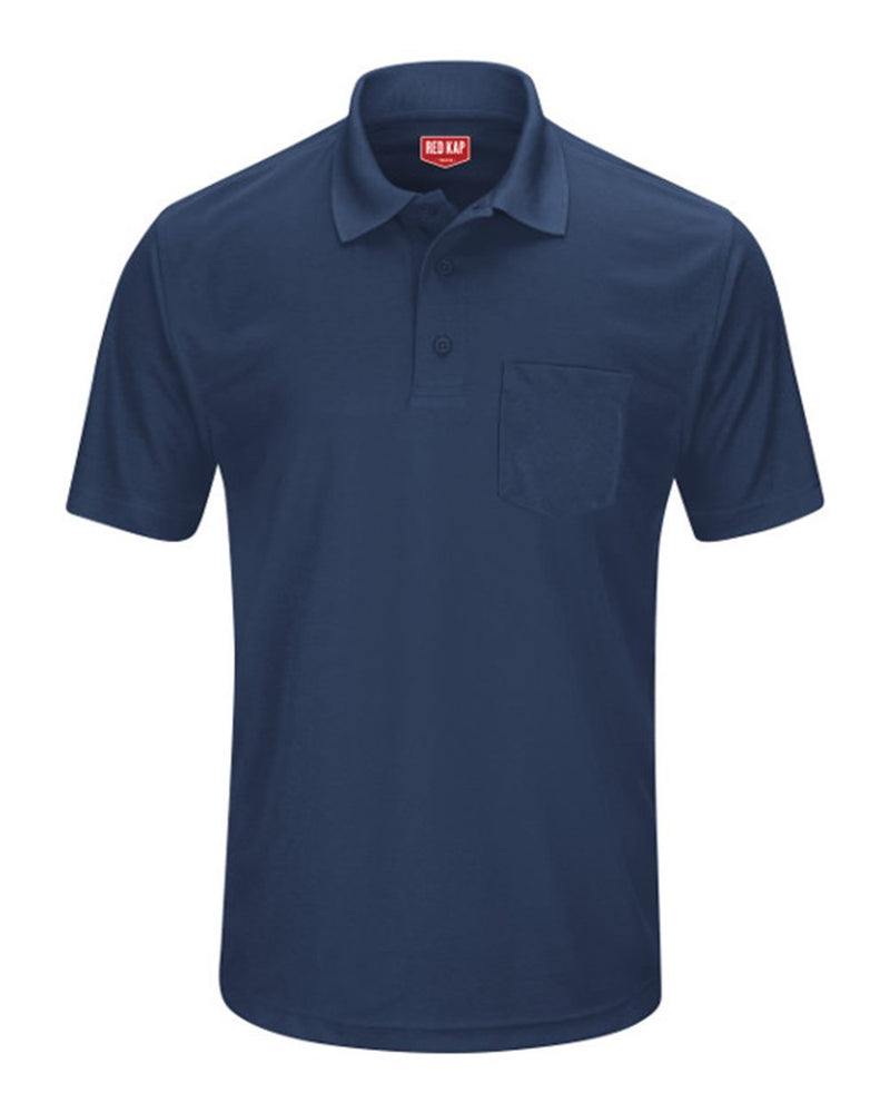 Short sleeve Performance Knit Pocket Polo-Red Kap-Pacific Brandwear
