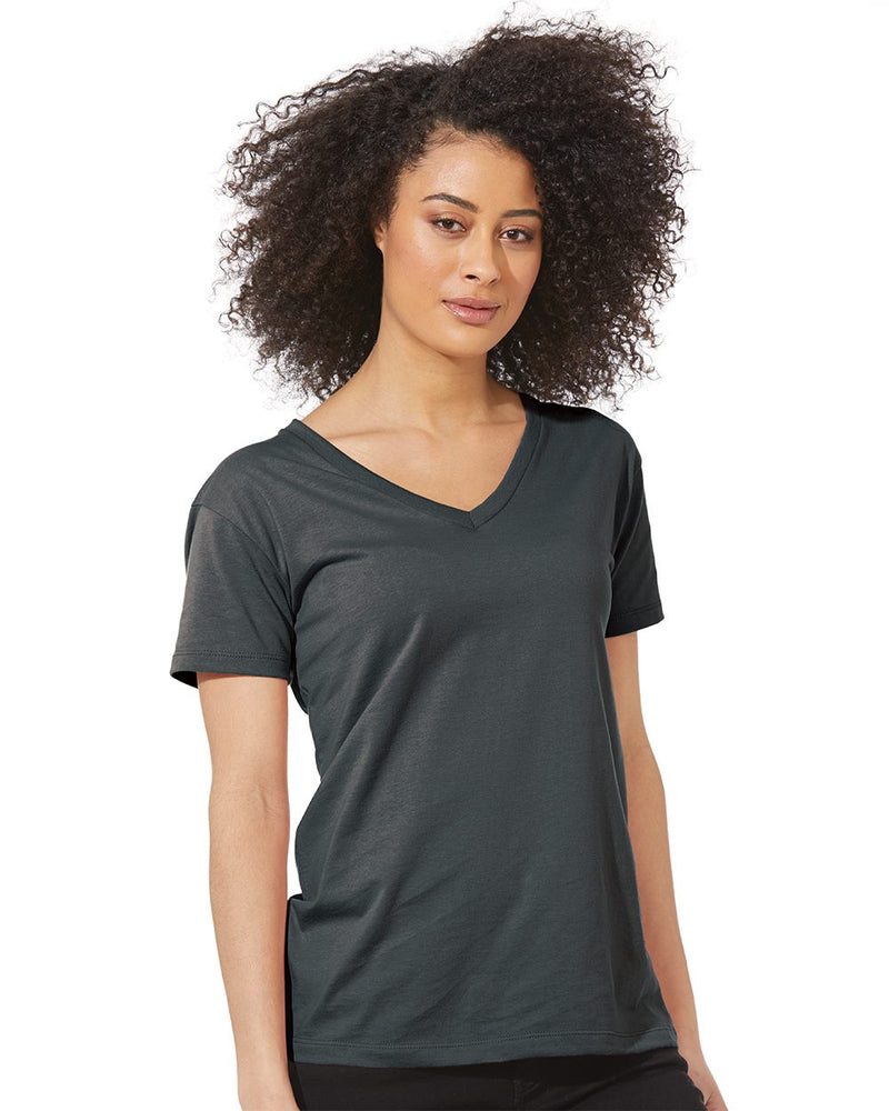 Women's Fine Jersey Relaxed V T-Shirt-Next Level-Pacific Brandwear