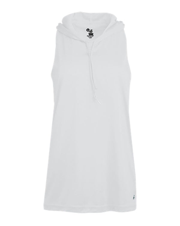 Women's B-Core Racerback Hooded Tank Top-Badger-Pacific Brandwear