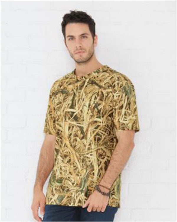 Men's Camouflage Crew Neck T-Shirt-Code Five-Pacific Brandwear