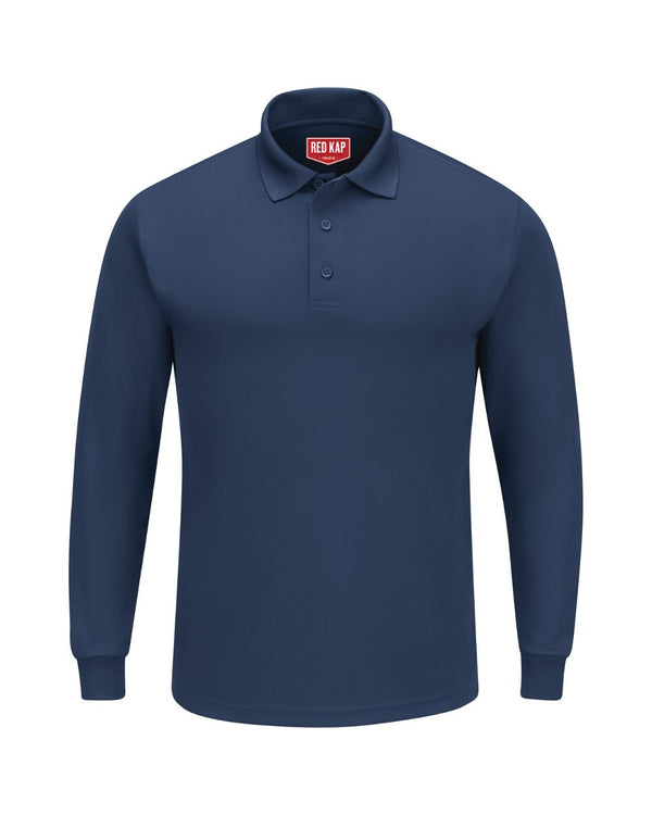 Long sleeve Performance Knit Polo-Red Kap-Pacific Brandwear