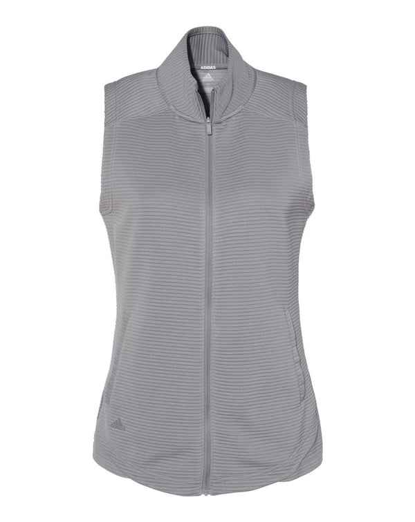 Women's Lifestyle Textured Full-Zip Vest-Adidas-Pacific Brandwear