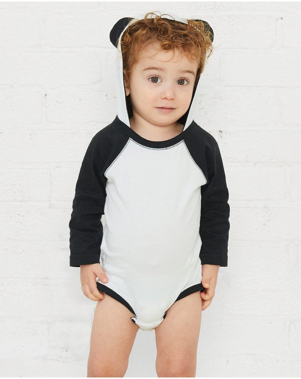 Fine Jersey Infant Character Hooded Long sleeve Bodysuit with Ears-Rabbit Skins-Pacific Brandwear