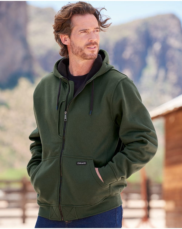 Bateman Bonded Power Fleece 2.0 Full-Zip Jacket-DRI DUCK-Pacific Brandwear