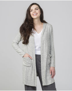 Women's Cuddle Fleece Cardigan-Boxercraft-Pacific Brandwear
