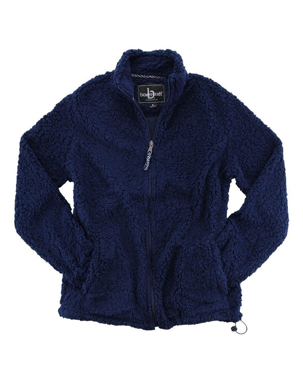 Women's Sherpa Full-Zip Jacket-Boxercraft-Pacific Brandwear