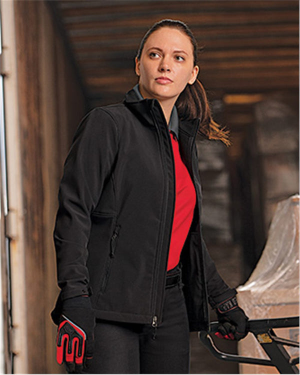 Women's Deluxe Soft Shell Jacket-Red Kap-Pacific Brandwear