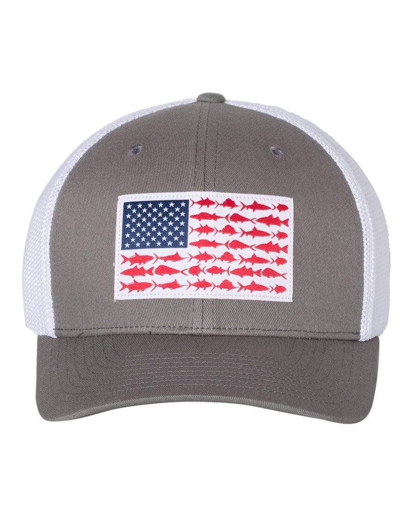 PFG Fish Flag Mesh Flexfit Cap-Columbia-Pacific Brandwear