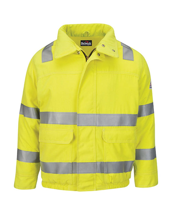 Hi-Visibility Lined Bomber Jacket with Reflective Trim - CoolTouch2-Bulwark-Pacific Brandwear
