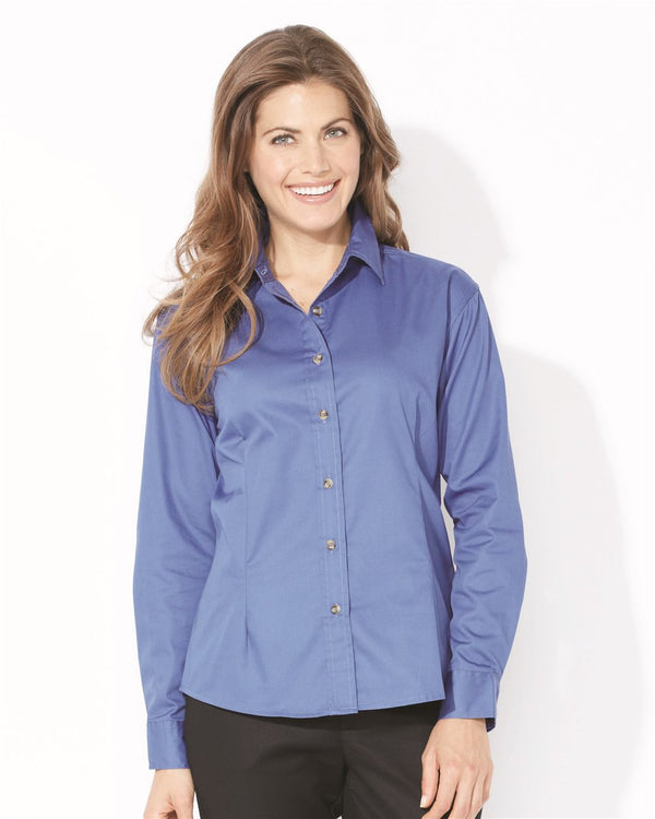 Women's Long sleeve Stain-Resistant Tapered Twill Shirt-FeatherLite-Pacific Brandwear