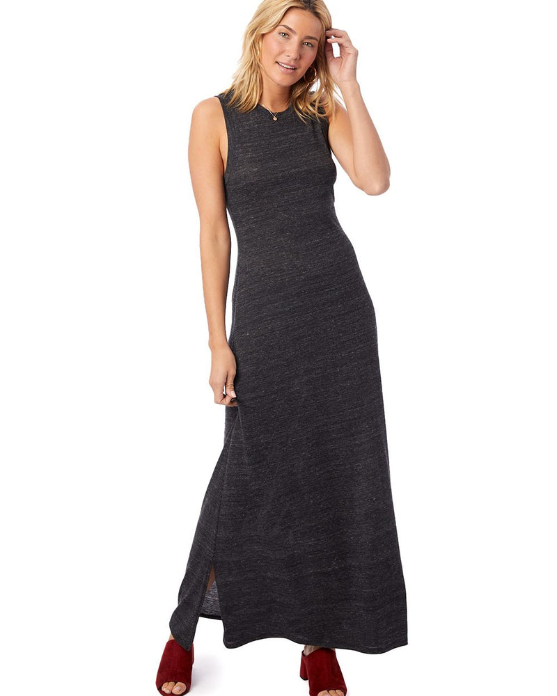 Women's Eco-Jersey Side Slit Maxi Tank Dress-Alternative Apparel-Pacific Brandwear