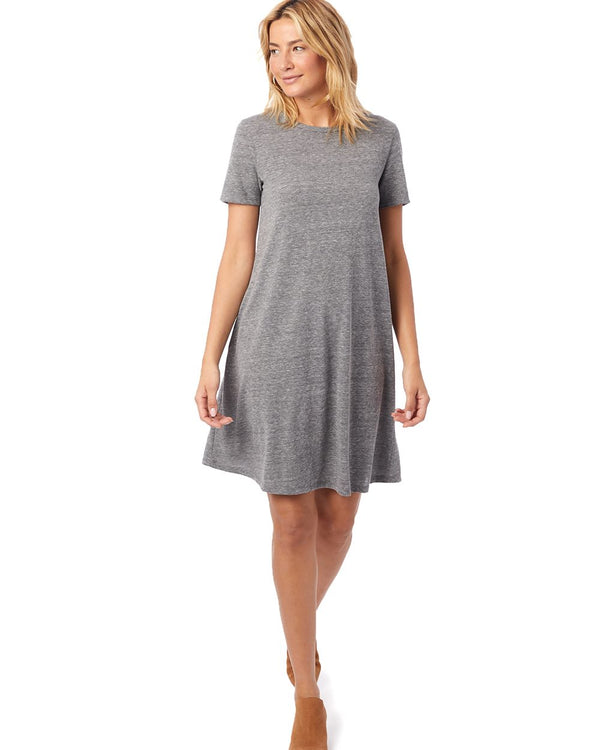 Women's Eco-Jersey Flare T-Shirt Dress-Alternative Apparel-Pacific Brandwear