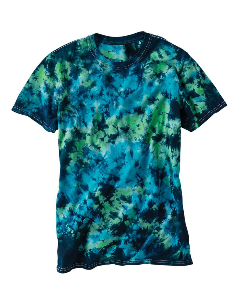 LaMer Over-Dyed Crinkle Tie Dye T-Shirt-Dyenomite-Pacific Brandwear