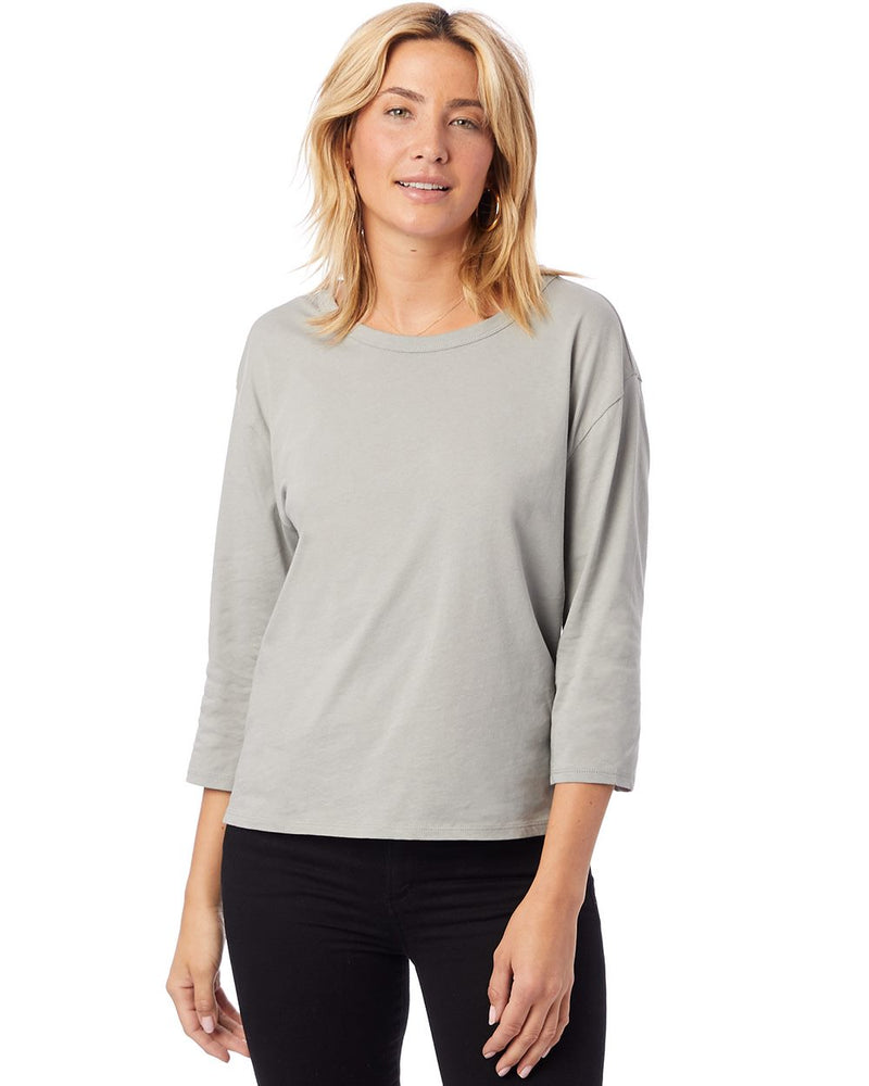 Organic 3/4 sleeve Boxy Tee-Alternative Apparel-Pacific Brandwear