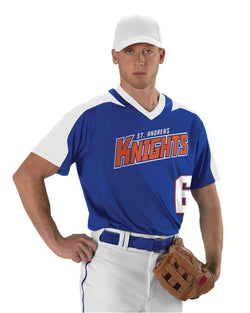 V-Neck Baseball Jersey-Alleson Athletic-Pacific Brandwear