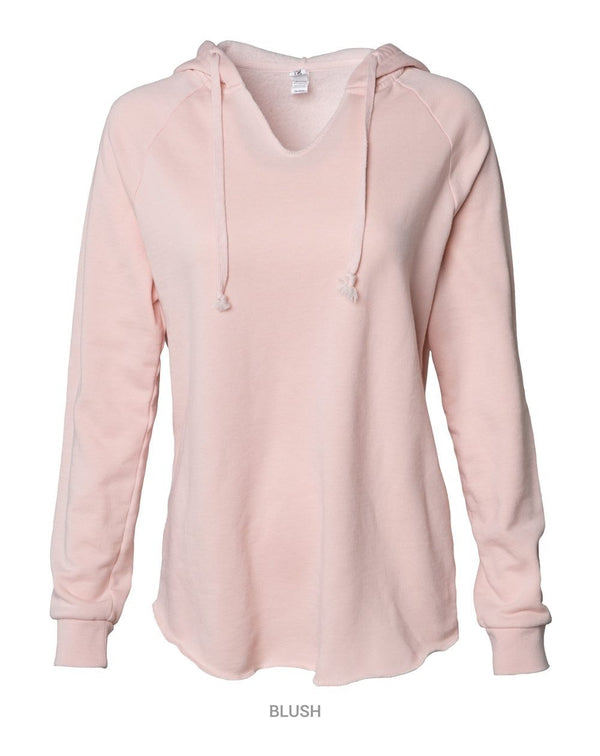 Women's Lightweight California Wave Wash Hooded Sweatshirt-Independent Trading Co.-Pacific Brandwear