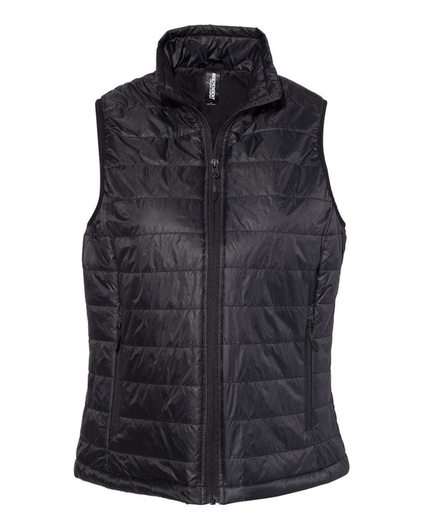 Women's Puffer Vest-Independent Trading Co.-Pacific Brandwear