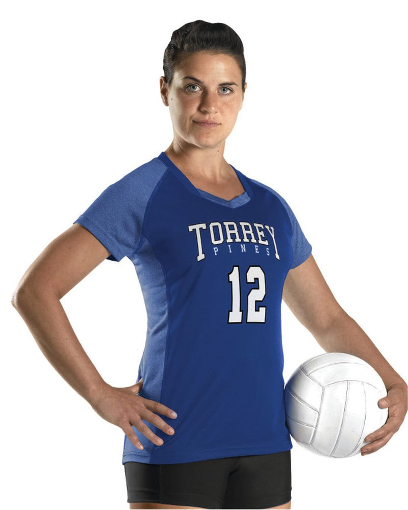 Girls' Dig Short sleeve Volleyball Jersey-Alleson Athletic-Pacific Brandwear