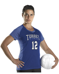 Women's Dig Short sleeve Volleyball Jersey-Alleson Athletic-Pacific Brandwear