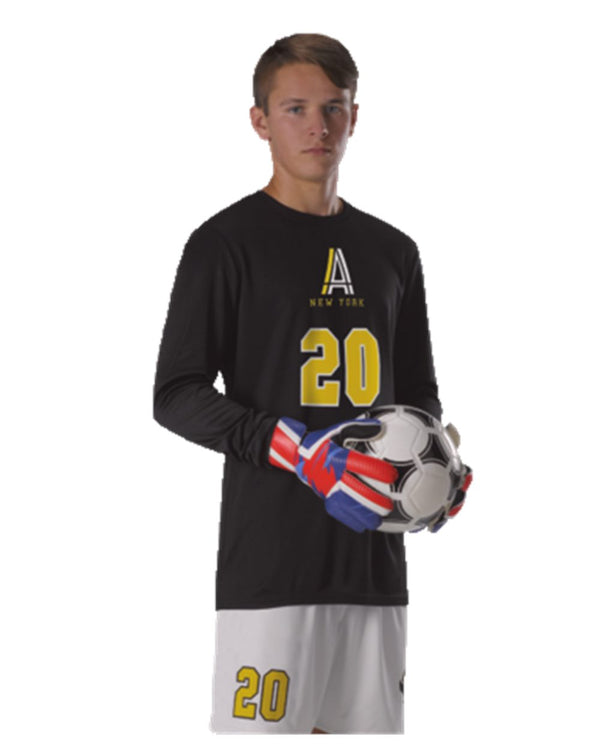 Youth Long sleeve Goalie Soccer Jersey-Alleson Athletic-Pacific Brandwear