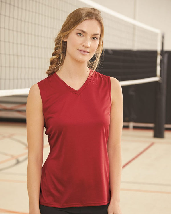 Women's sleeveless V-Neck T-Shirt-C2 Sport-Pacific Brandwear