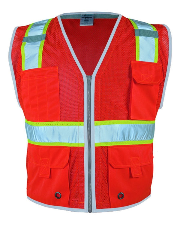 Premium Brilliant Series Heavy-Duty Class 2 Vest-ML Kishigo-Pacific Brandwear