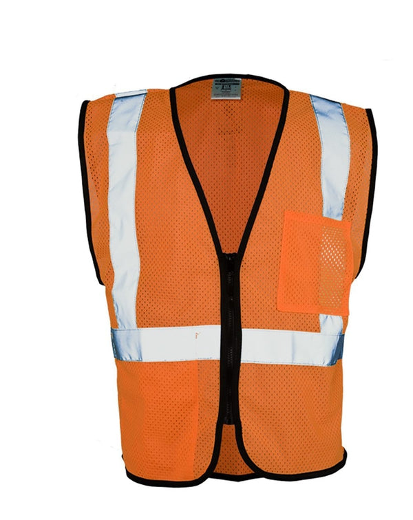 Class 2 Double-Pocket Zippered Economy Vest-ML Kishigo-Pacific Brandwear