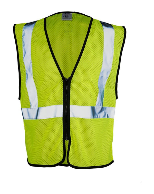 Class 2 Zippered Mesh Economy Vest-ML Kishigo-Pacific Brandwear