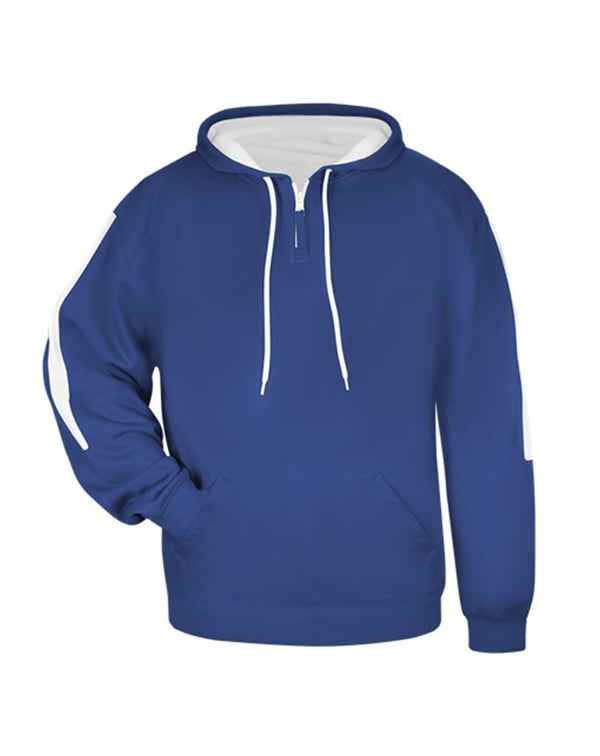 Youth Sideline Fleece Hooded Sweatshirt-Badger-Pacific Brandwear