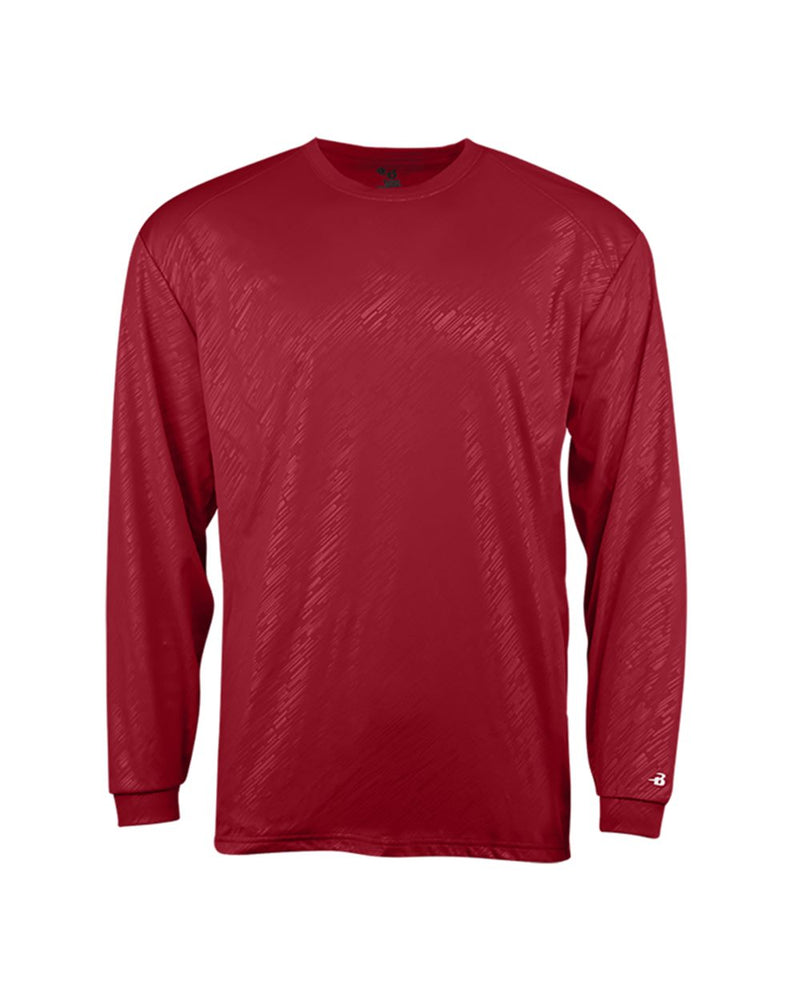 Youth Line Embossed Long sleeve T-Shirt-Badger-Pacific Brandwear