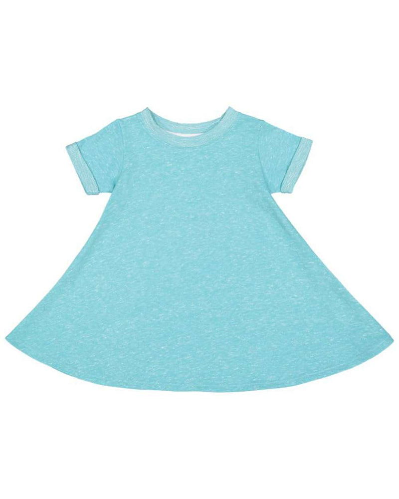 Toddler Harborside Melange French Terry Twirl Dress-Rabbit Skins-Pacific Brandwear