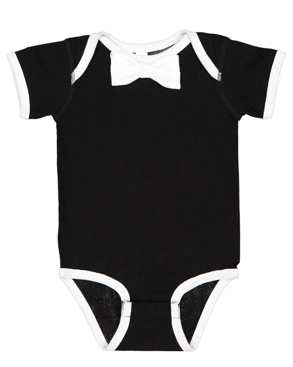 Baby Rib Infant Bow Tie Bodysuit-Rabbit Skins-Pacific Brandwear