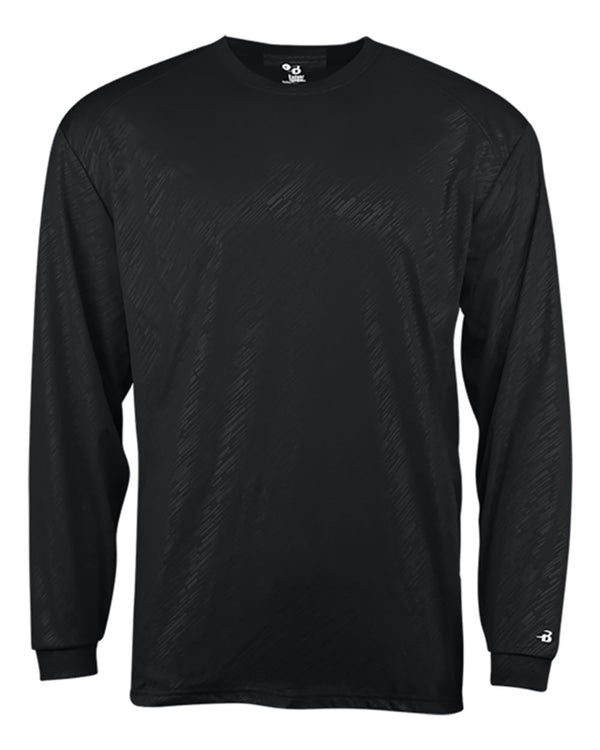 Line Embossed Long sleeve T-Shirt-Badger-Pacific Brandwear