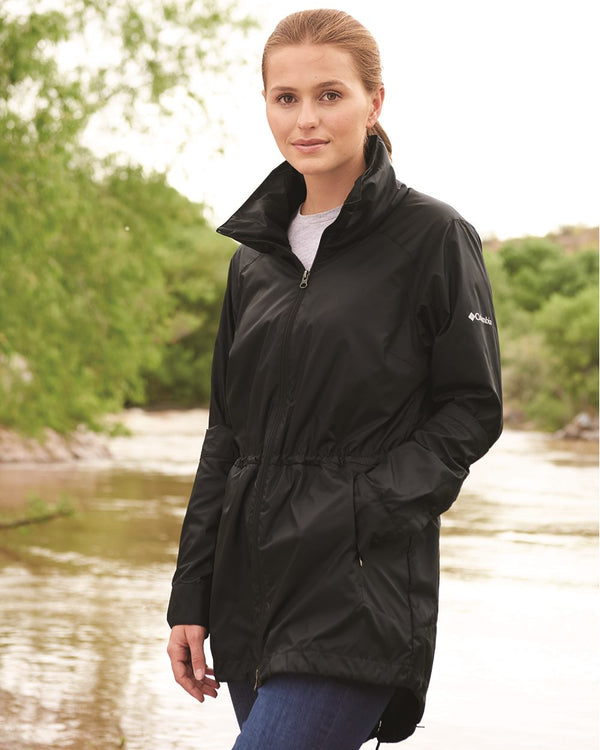 Women's Sustina Springs Long Lined Windbreaker-Columbia-Pacific Brandwear