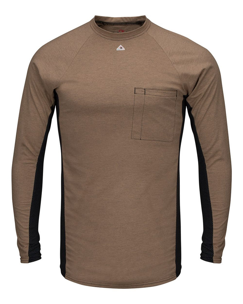 Long sleeve FR Two-Tone Base Layer with Concealed Chest Pocket - EXCEL FR-Bulwark-Pacific Brandwear
