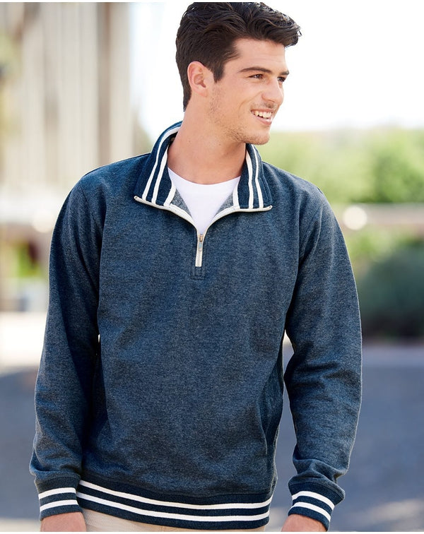 Relay Fleece Quarter-Zip SweatShirt-J. America-Pacific Brandwear