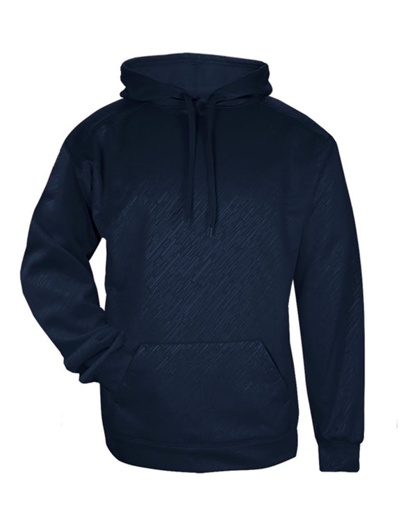 Youth Line Embossed Hooded Sweatshirt-Badger-Pacific Brandwear