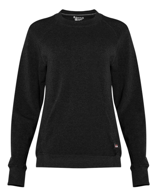 Women's Fitflex French Terry Sweatshirt-Badger-Pacific Brandwear