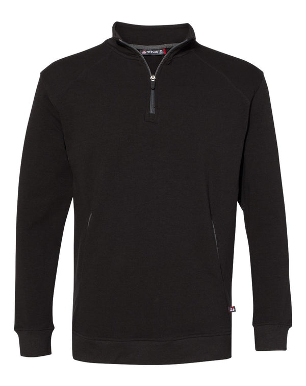 FitFlex French Terry Quarter-Zip SweatShirt-Badger-Pacific Brandwear