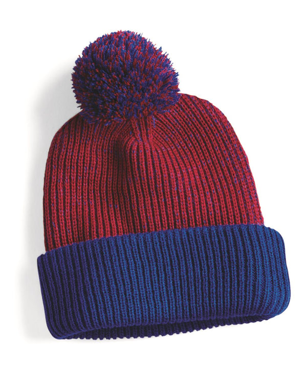 "12"" Knit Speckled Pom-Pom Beanie-Sportsman-Pacific Brandwear"