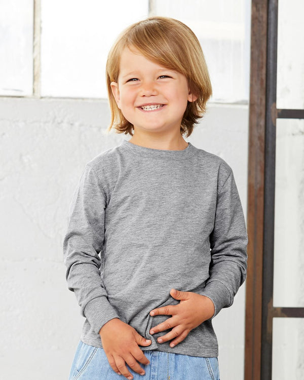 Toddler Jersey Long sleeve Tee-BELLA + CANVAS-Pacific Brandwear