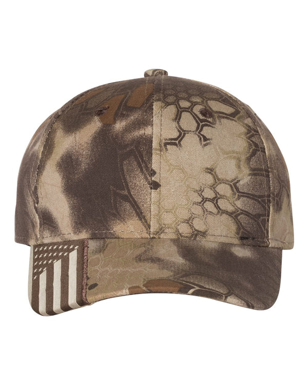 Camo Cap with Flag Visor-Outdoor Cap-Pacific Brandwear