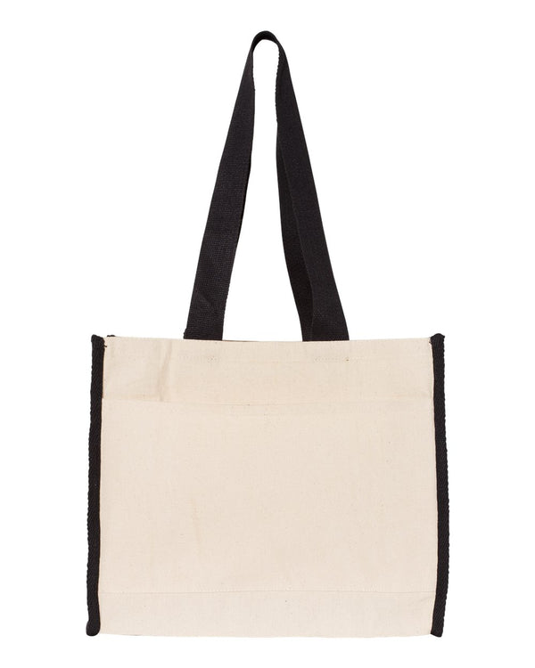 14L Tote with Contrast-Color Handles-Q-Tees-Pacific Brandwear