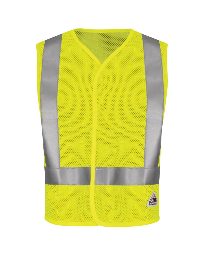 Hi-Visibility Flame-Resistant Mesh Safety Vest-Bulwark-Pacific Brandwear