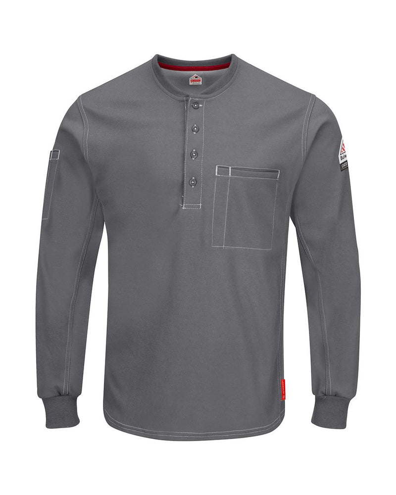 iQ Series Plus Long sleeve Henley-Bulwark-Pacific Brandwear