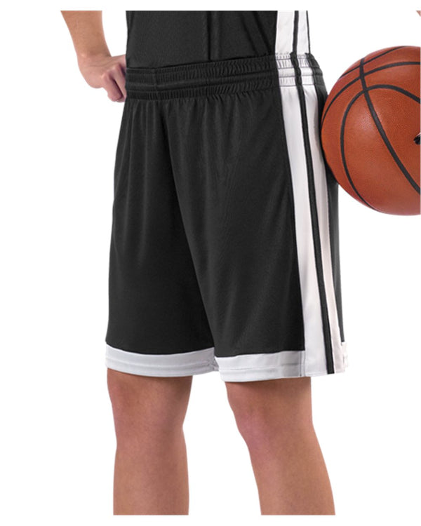 Women's Single Ply Basketball Shorts-Alleson Athletic-Pacific Brandwear