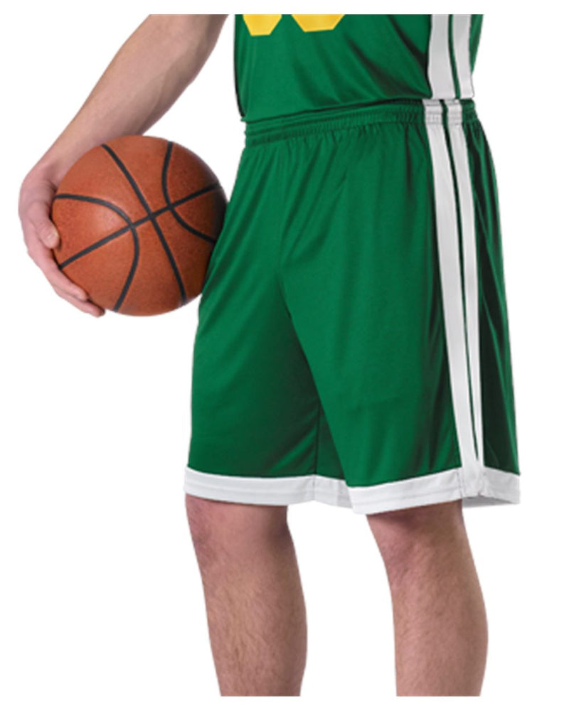 Youth Single Ply Basketball Shorts-Alleson Athletic-Pacific Brandwear