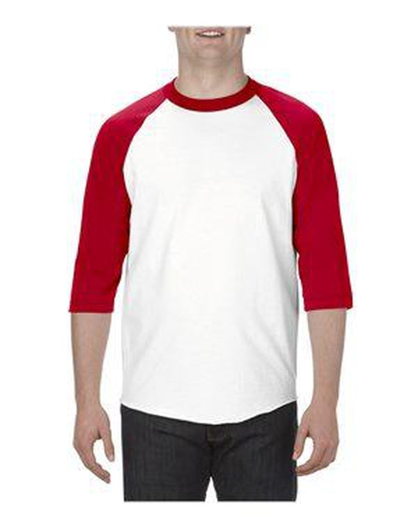 Classic Raglan Three-Quarter Sleeve T-Shirt-ALSTYLE-Pacific Brandwear